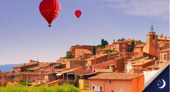 Vol en Provence avec 1 nuit en hôtel 2* en 1/2 pension
