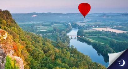 Vol en Dordogne avec 1 nuit en hôtel 2* en 1/2 pension