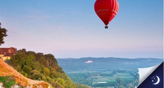 Vol en Dordogne avec 1 nuit en hôtel 4* en 1/2 pension