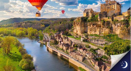 Vol privatisé en Dordogne avec 1 nuit en hôtel 4* en 1/2 pension