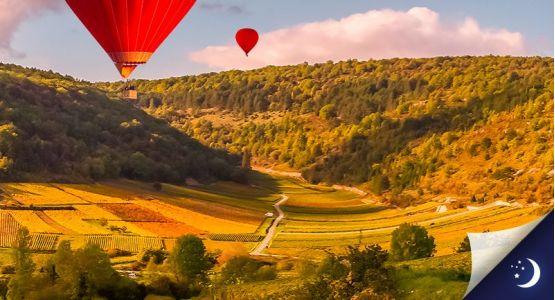 Vol en Bourgogne avec 1 nuit en hôtel 2* en 1/2 pension