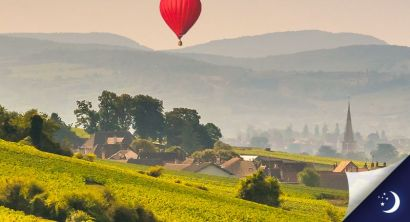 VIP package flight in Burgundy with 1 night in a 3* hotel with half-board