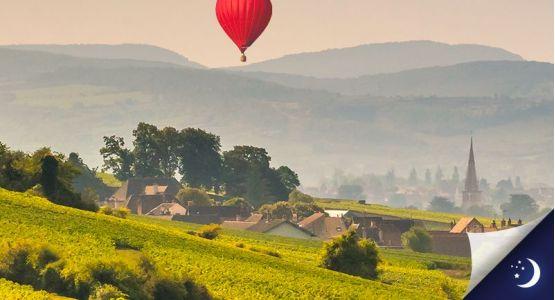 Vol privatisé en Bourgogne avec 1 nuit en hôtel 3* en 1/2 pension