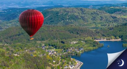 Vol en Auvergne avec 1 nuit en chambre d'hôtes