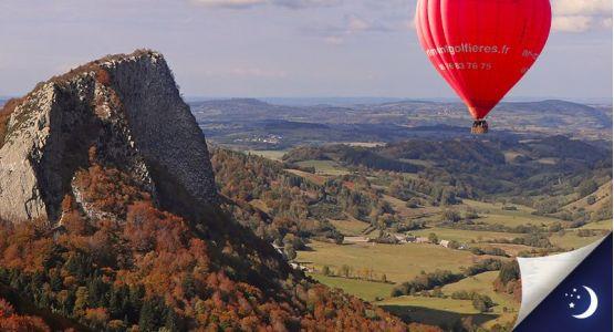 Vol privatisé en Auvergne avec 1 nuit en hôtel 2* en 1/2 pension