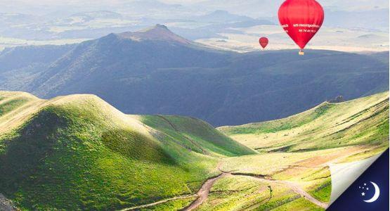 Vol privatisé en Auvergne avec 1 nuit en hôtel 4* en 1/2 pension