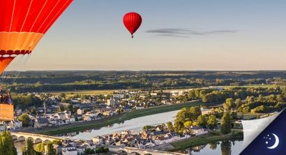 Flight in Touraine with 1 night in an original accommodation