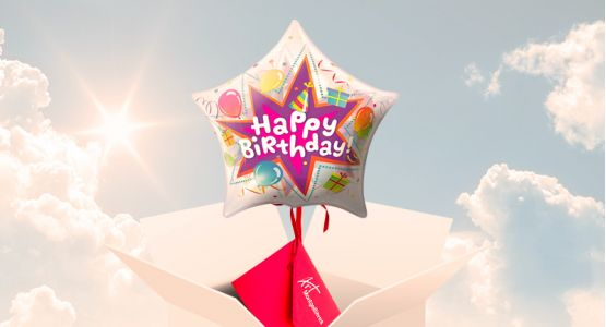 Send your ticket with a 'Happy birthday' balloon