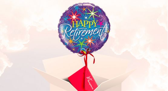 Send your ticket with a balloon 'Happy retirement'