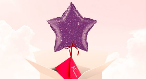 Send your ticket with a star-shaped balloon