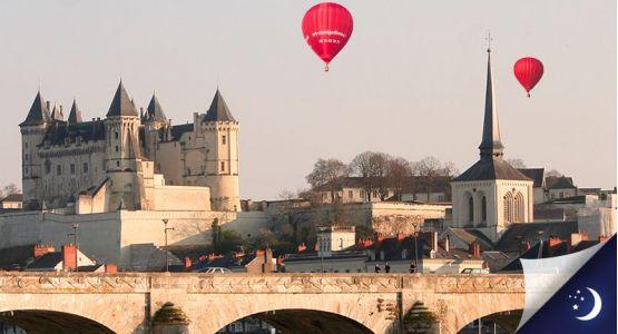 Vol privatisé en Anjou avec 1 nuit en hôtel 3* en 1/2 pension