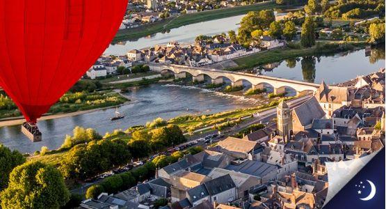 Vol en Touraine avec 1 nuit en hôtel 2* en 1/2 pension