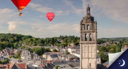 Flight in Touraine with 1 night in a 4* hotel with half-board