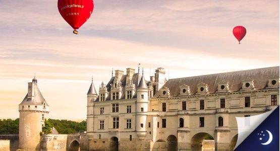 Vol privatisé en Touraine avec 1 nuit en hôtel 3* en 1/2 pension