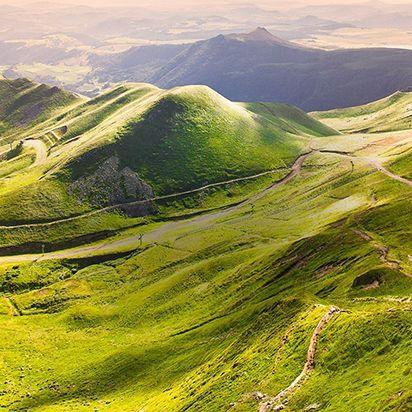 Auvergne vue du ciel