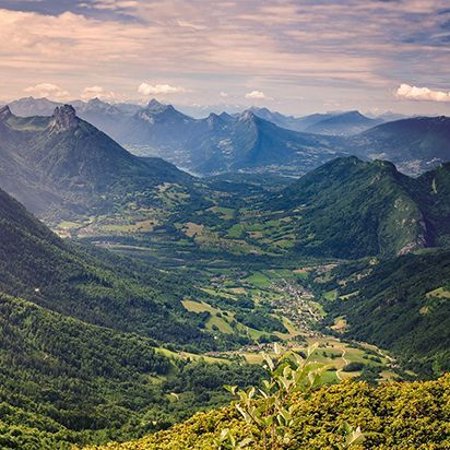Les Rhône-Alpes vue du ciel