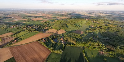 Panoramique des Monts des Flandres vu du ciel
